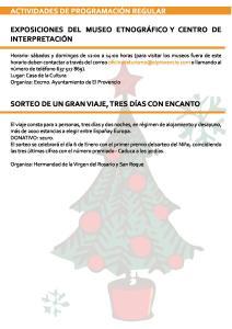 Programa Fiestas de Navidad