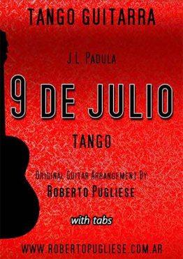 Nueve de julio 🎼 tango partitura de guitarra
