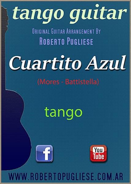Cuartito azul 🎼 partitura del tango para guitarra