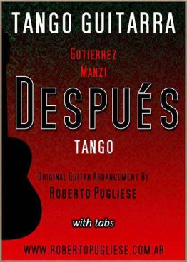 Despues 🎼 partitura del tango para guitarra