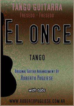El once (A divertirse) 🎼 partitura del tango de Fresedo para guitarra