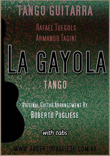 La gayola 🎼 tango partitura para guitarra