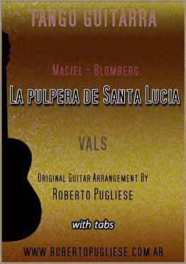 La pulpera de Santa Lucía 🎼 vals criollo partitura de guitarra