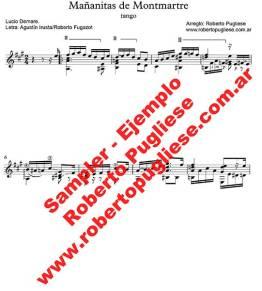 Mañanitas de Montmartre 🎼 partitura del tango guitarra y video