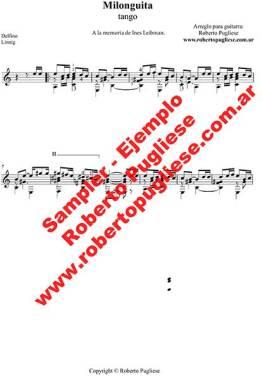 Milonguita 🎼 partitura del tango en guitarra. Con video