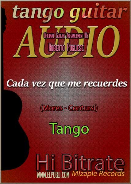 Cada vez que me recuerdes 🎵 mp3 tango en guitarra