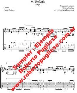 Mi refugio 🎼 partitura del tango en guitarra. Con video