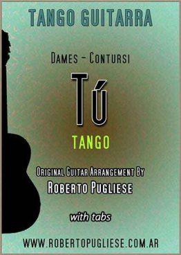 Tapa de Tu Tango partitura para guitarra, arreglo de Roberto Pugliese
