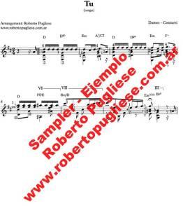 EJEMPLO de Tu Tango partitura para guitarra, arreglo de Roberto Pugliese con video. T