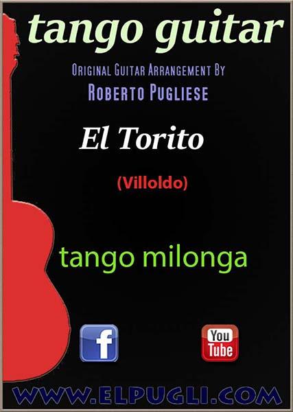 El torito 🎼  Tango milonga partitura de guitarra. Con video