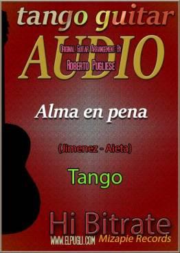 Alma en pena 🎶 mp3 tango en guitarra. Con partitura