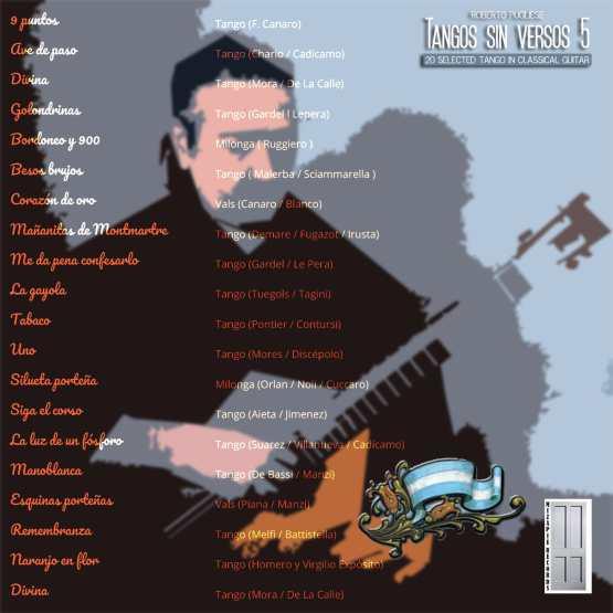 Tangos sin versos 5 💿 20 tracks de tango instrumentales en guitarra