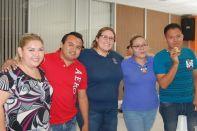 Aury Montejo, Jahaziel Rivero, Lizbeth García, Karen Jiménez y AndrésPérez.