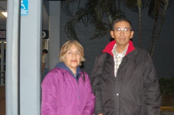 Fernando Vela Cambranis y Margarita Mendieta ORIGEN: México Distrito Federal DESTINO: Chetumal Quintana Roo MOTIVO: retornaron después de una semana a su cita médica.
