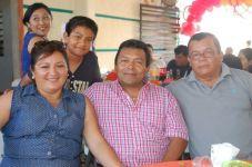 Jorge Canto Díaz, Martha Díaz Cetina, Fidel Canto Villanueva y Rogelio Forbes Hernández