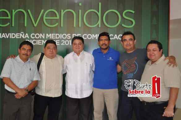 Álvaro Ortiz, Armando Batun, Pedro Flota, Rafael Briceño, Jesús Amador y Luis Buenfil.