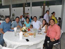 Jesús Flores Gómez, Miguel Flores Aragón, Leticia Gómez Rodríguez, Miguel Flores Gómez, Idania Gamboa y Pedro Carrillo.