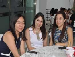 Alma Hernández, Isabel Domínguez y Verónica Cruz.
