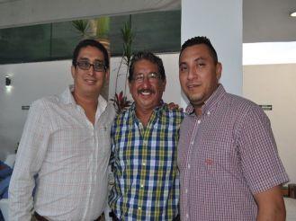 Alejandro Ocman, Florentino Balam y Ulises García.