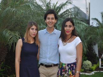 Astrid Loya, Carlos Gutiérrez e Iliren Sala.