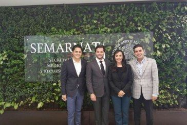 Presenta Laura Fernández a la SEMARNAT proyecto para rehabilitar flujo lagunar de Puerto Morelos