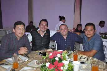 Diego Ceballos, Juan Pablo Hernández, Marcial Martínez y Leonardo Hernández.