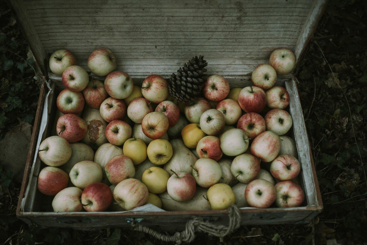 Decoración para bodas con manzanas