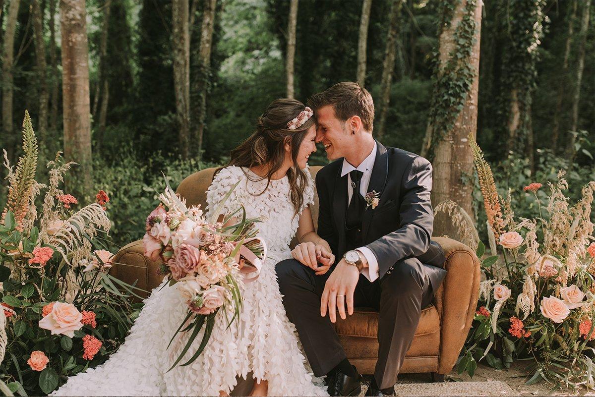 Foto de boda en can riera de la pineda