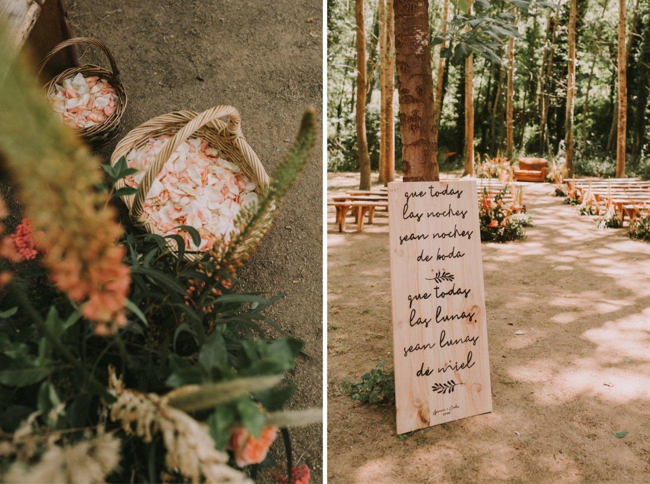 decoracion de boda en can riera de la pineda