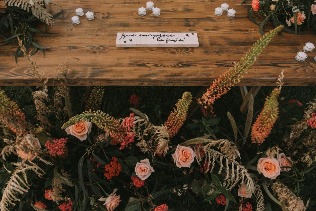decoracion de mesas de bodas en can riera de la pineda