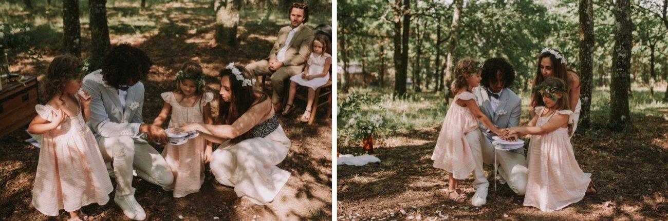 ceremonia de bodas en el bosque