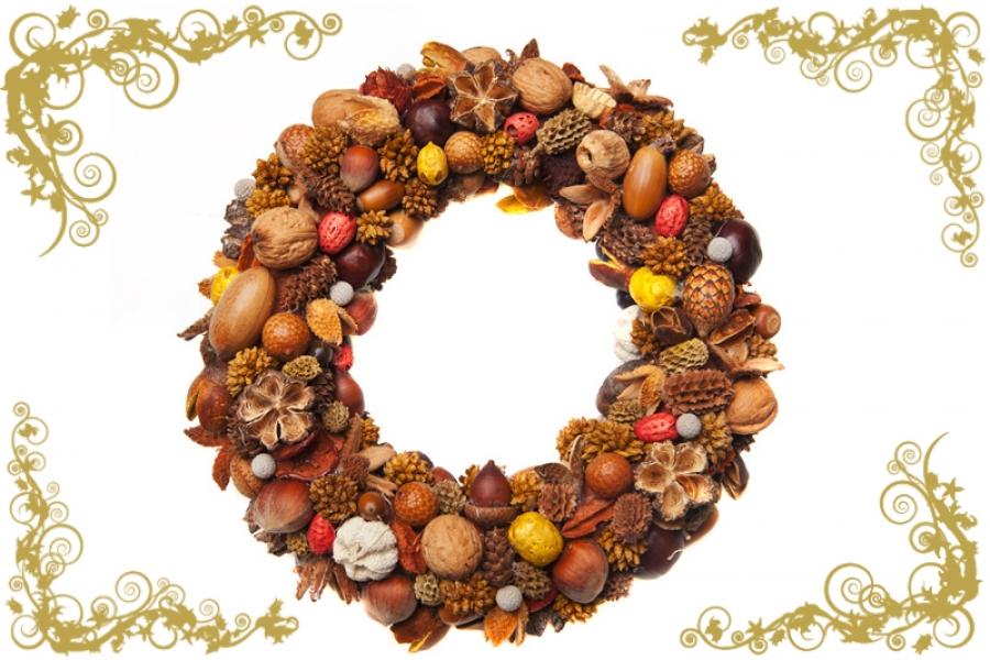 Decoracin navidea coronas de Navidad para tu puerta