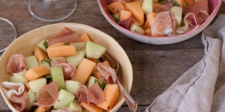 Ensalada de Melon y Prosciutto