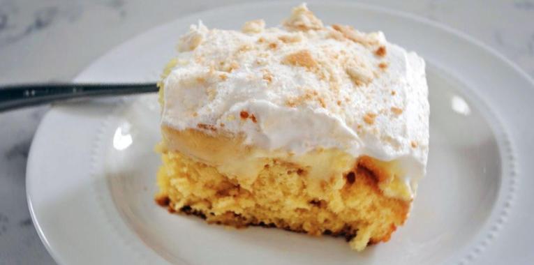 Tarta de Crema y Bananas