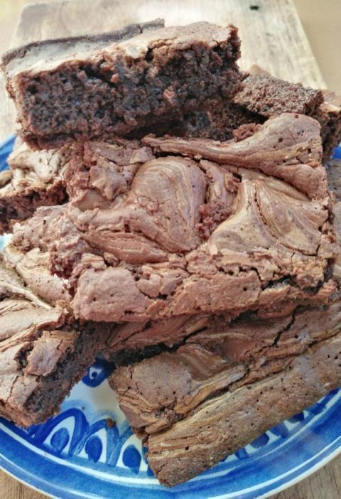 Brownies Remolinos de Chocolate