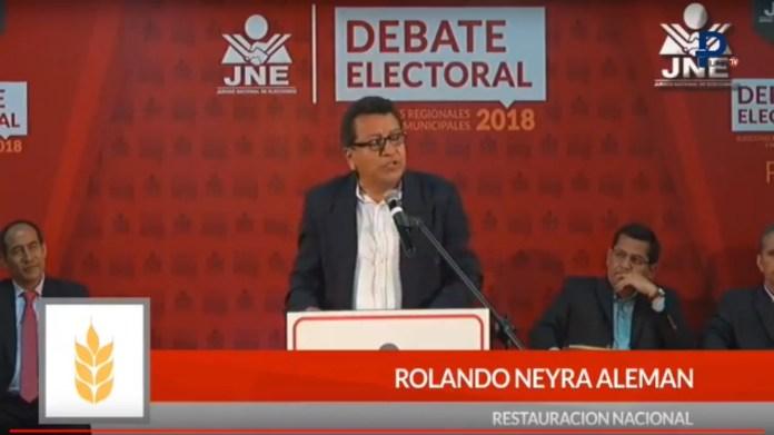 Rolando Aleman Neira realizó un mensaje adecuado