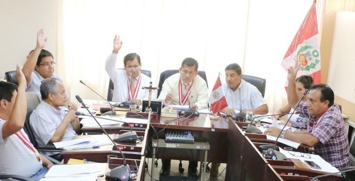 Consejo Regional de Piura aporbó cuadro de comisiones 2019