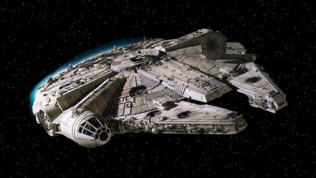 Halcón Milenario en un fotograma de La Guerra de las Galaxias