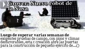 GROVER: NUEVO ROBOT DE LA NASA