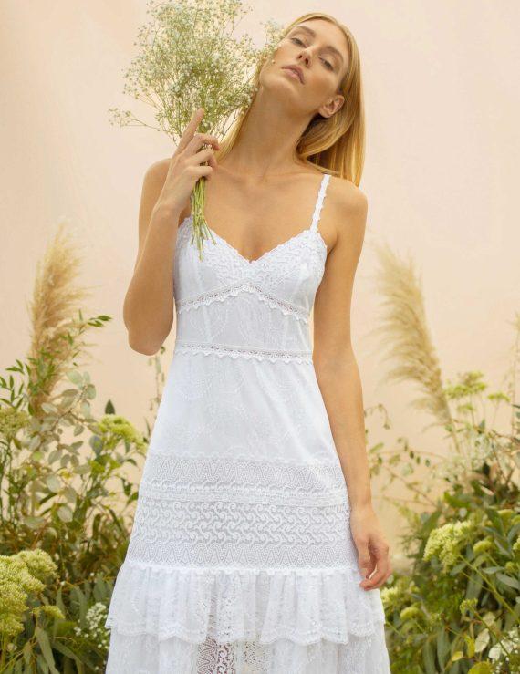 Novia Ibicenca, vestido largo Hilde