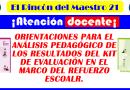 ORIENTACIONES PARA EL  ANÁLISIS PEDAGÓGICO DE  LOS RESULTADOS DEL KIT DE EVALUACIÓN DIAGNÓSTICA EN EL MARCO DEL REFUERZO ESCOLAR 2021.