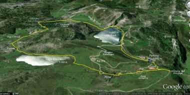 Mapa Ortografico Ruta Lagos de Covadonga