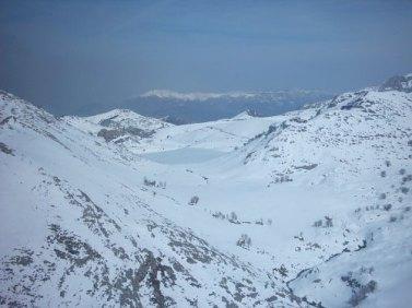 Lago Enol desde el aire