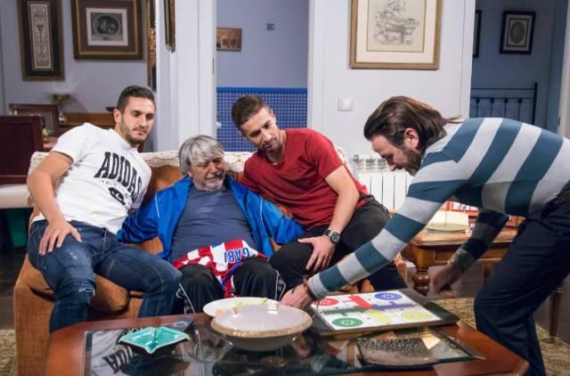 Gabi y koke junto a Vicente Maroto y Fermín Trujillo