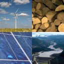 Four renewables: wind, biomass, hydro and solar PV.