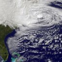 Sandy hitting the United States