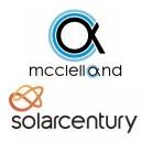 Jim McClelland and Solarcentury logos