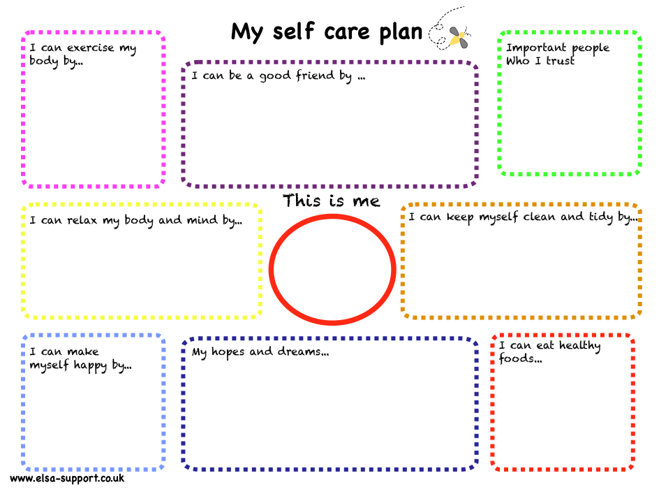 My self care plan - Elsa Support