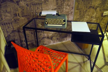 Try your hand at the typewriters!