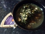 Leek and kale soup, ready to serve!